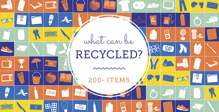 What can be Recycled? A list of 200 recyclables