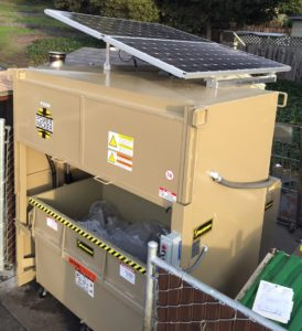 Trash Compactor with solar power