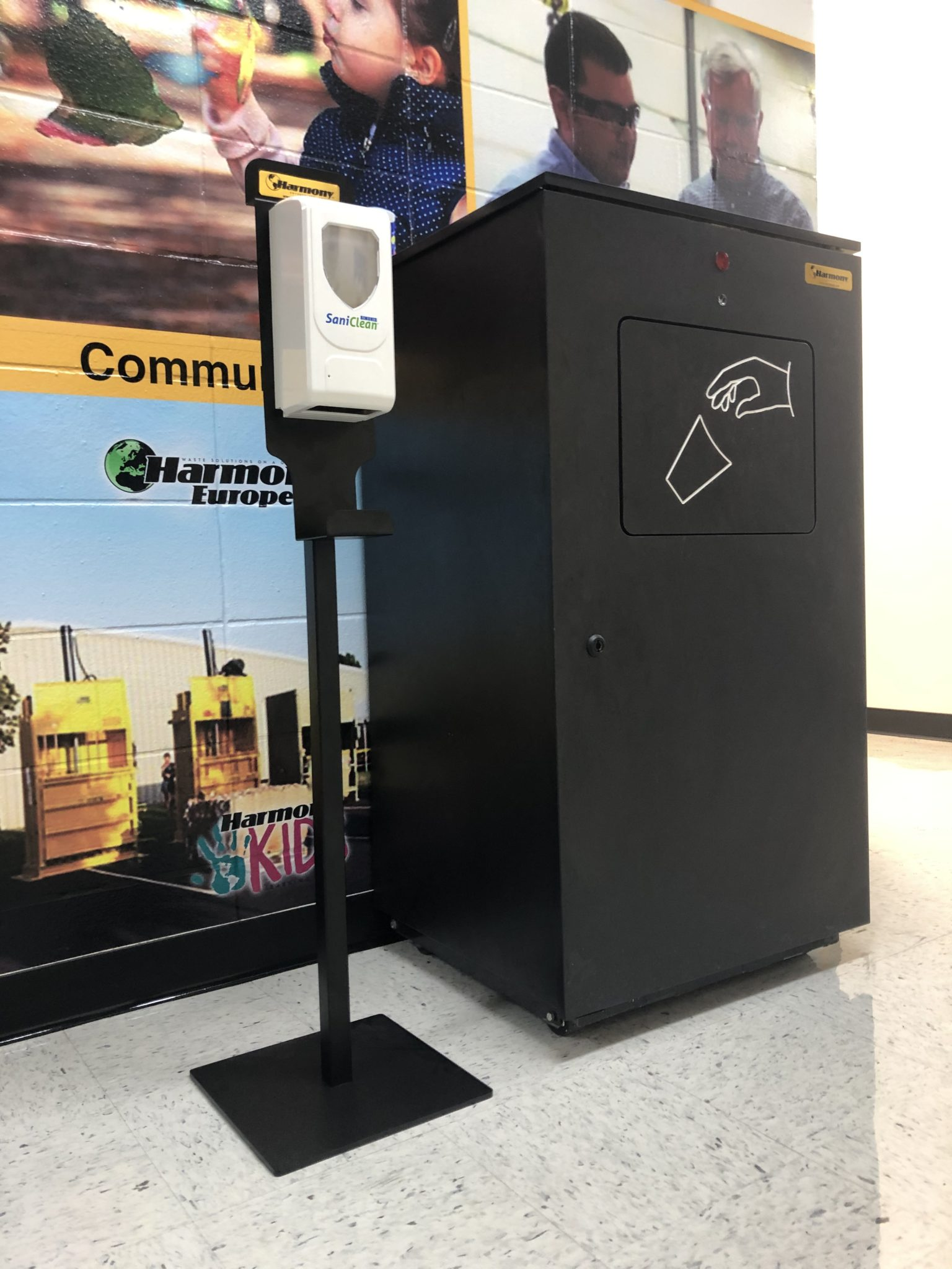 hand sanitizer stations